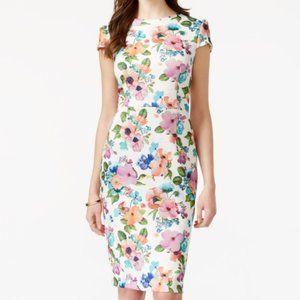 Betsey Johnson Floral Print Scuba Sheath Dress 8